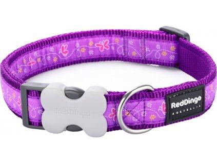 Obojek RED DINGO - Butterfly Purple (Velikost 15 mm)