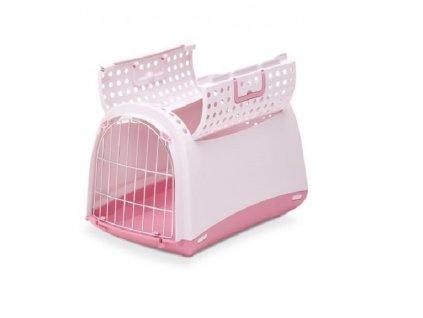 IMAC Přepravka pro kočky a psy Cabrio Růžová