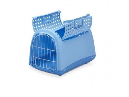 IMAC Přepravka pro kočky a psy Cabrio Modrá