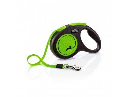 Vodítko Flexi Neon pásek S 15 kg zelená