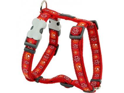 2156 2 postroj red dingo 12 mm x 30 44 cm paw impressions red