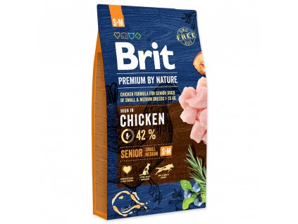3758 1 brit premium by nature senior s m 8 kg