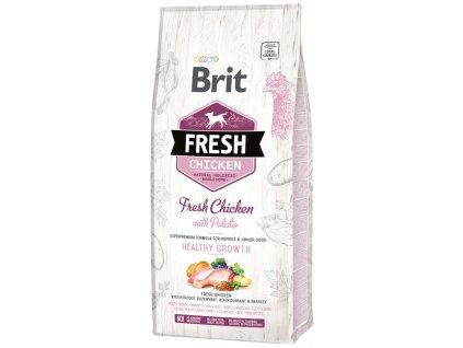 3815 1 brit fresh chicken with potato puppy healthy growth 12 kg