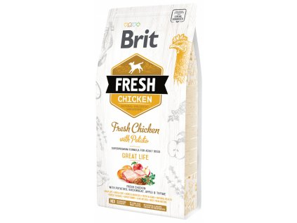 3818 1 brit fresh chicken with potato adult great life 2 25 kg