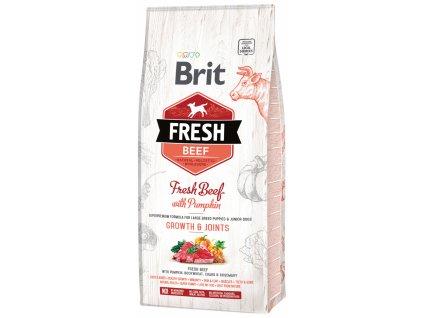 3827 1 brit fresh beef with pumpkin puppy large bones joints 12 kg