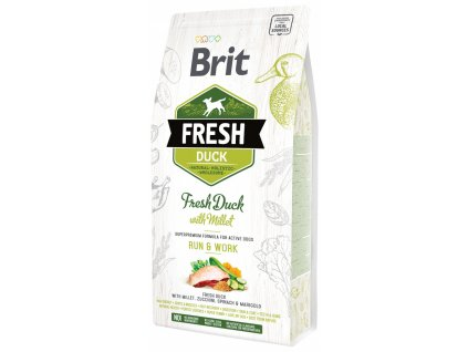 3842 1 brit fresh duck with millet adult run work 2 25 kg
