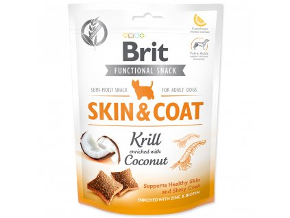3917 brit care dog functional snack skin coat krill 150 g