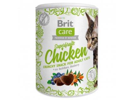 4043 1 brit care cat snack superfruits chicken 100 g