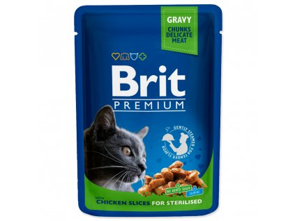 4169 1 brit premium cat pouches chicken slices for sterilised 100 g