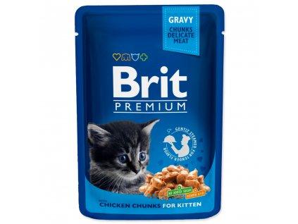 4175 1 brit premium cat pouches chicken chunks for kitten 100 g