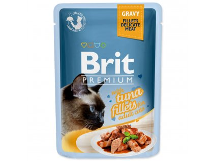 4184 1 brit premium cat pouch with tuna fillets in gravy for adult cats 85 g