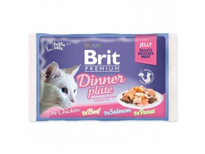 4217 1 brit premium cat pouch dinner plate jelly 4 x 85 g