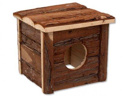 605 1 domek Small Animals dreveny s kurou 15 5 x 15 5 x 14 cm