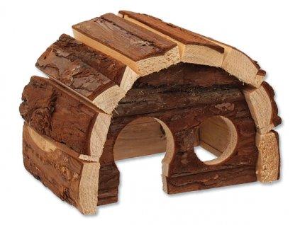 617 1 domek small animal hobit dreveny 15 x 10 x 9 cm