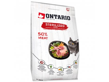 755 1 ontario cat sterilised lamb 2 kg