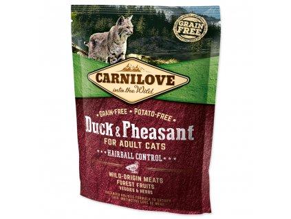 782 1 carnilove cat duck pheAsant hairball control 400 g