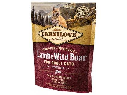 794 1 carnilove cat lamb wild boar for adult cats sterilised 400 g