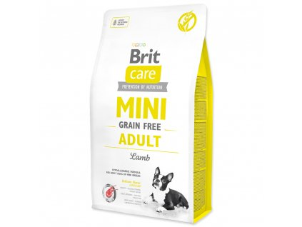 917 1 brit care mini grain free adult lamb 2 kg