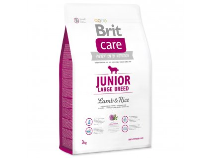 965 1 brit care junior large breed lamb rice 3 kg
