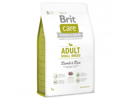 974 1 brit care adult small breed lamb rice 3 kg