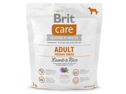 980 1 brit care adult medium breed lamb rice 1 kg