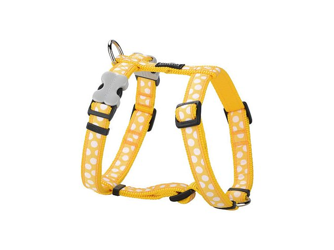 2165 2 postroj red dingo 12 mm x 30 44 cm white spots on yellow