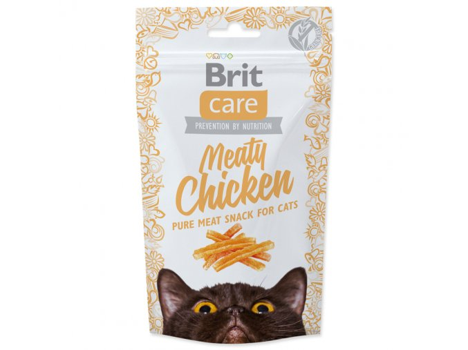 4058 1 brit care cat snack meaty chicken 50 g