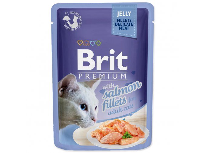 4181 1 brit premium cat pouch with salmon fillets in jelly for adult cats 85 g