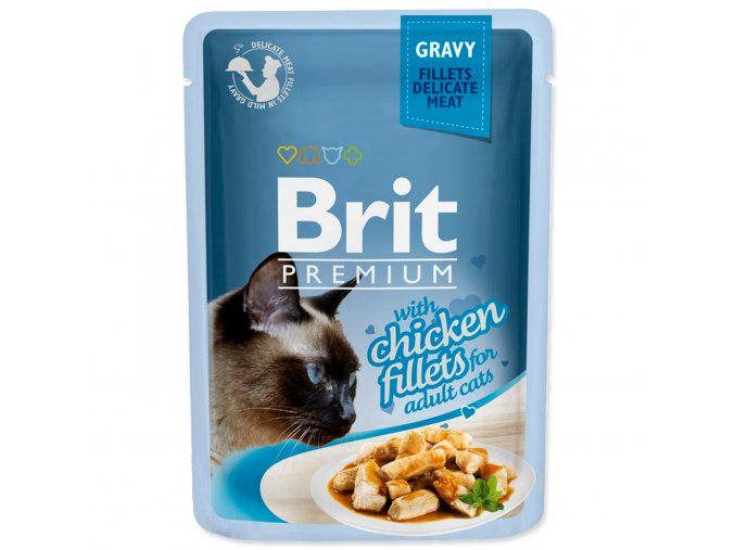 4205 1 brit premium cat pouch with chicken fillets in gravy for adult cats 85 g
