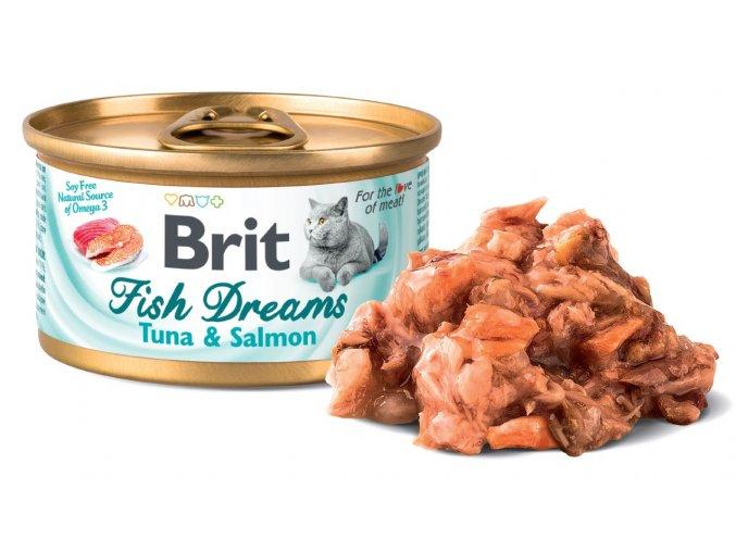 827 brit fish dreams tuna salmon 80 g
