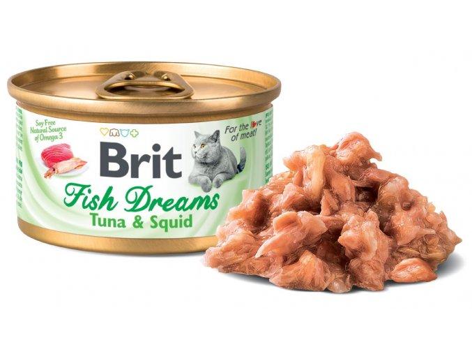 830 brit fish dreams tuna squid 80 g