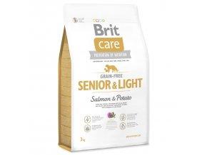 1046 1 brit care grain free senior light salmon potato 3 kg