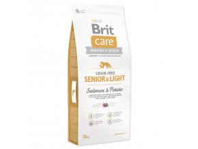 1049 1 brit care grain free senior light salmon potato 12 kg