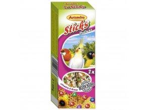 116 1 Avicentra tycinky s medem a vitaminy pro male a stredni papousky 2 ks