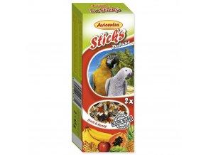 119 1 Avicentra tycinky s ovocem a medem pro velke papousky 2 ks