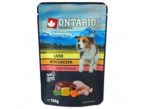 1586 ontario kapsicka liver with chicken in broth 100 g