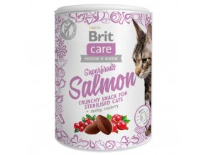 4046 1 brit care cat snack superfruits salmon 100 g