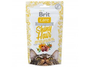 4055 1 brit care cat snack shiny hair 50 g