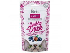 4070 1 brit care cat snack truffles with duck blueberry 50 g