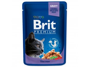 4178 1 brit premium cat pouches with cod fish 100 g