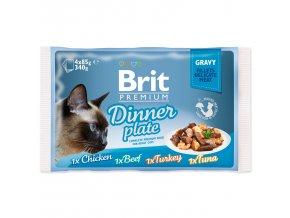 4220 1 brit premium cat pouch dinner plate gravy 4 x 85 g