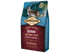 797 1 carnilove cat salmon sensitive long hair 2 kg