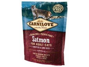800 1 carnilove cat salmon sensitive long hair 400 g