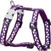 2168 2 postroj red dingo 12 mm x 30 44 cm white spots on purple