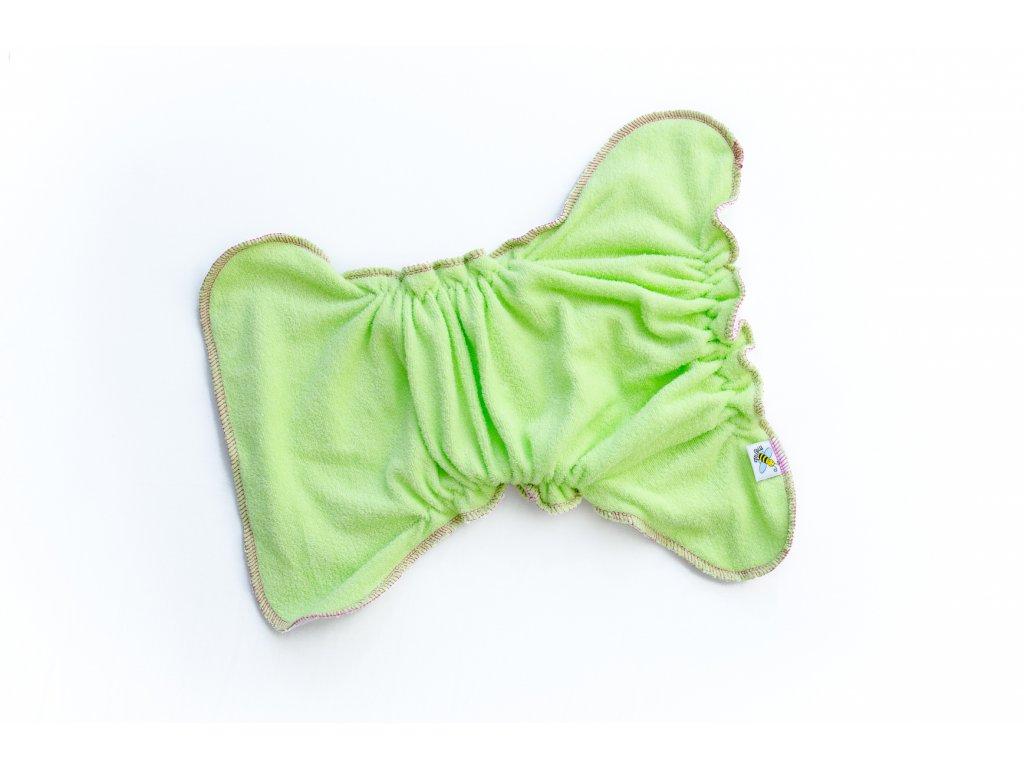 17c5183a844 Kalhotková plenka na snappi Zelená malinová (bambusové froté) - www ...