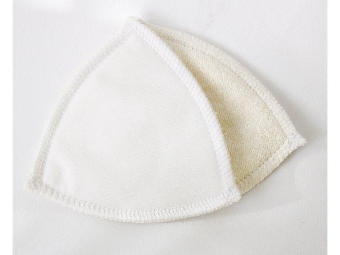 Vložky do podprsenky BÍLÉ - sada 3 páry (kojenecký plyš)