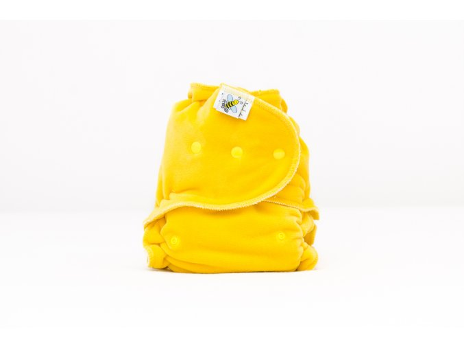 Kalhotková plenka velur ŽLUTÁ PAT