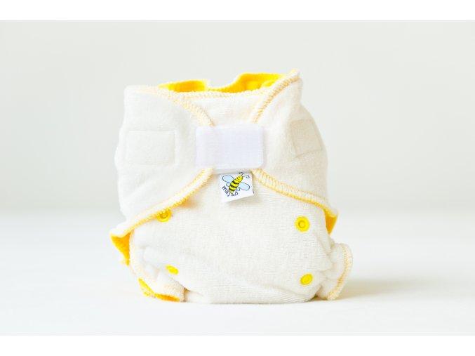 Kalhotková plenka se zvýšenou savostí denní/noční - žlutá suchý zip