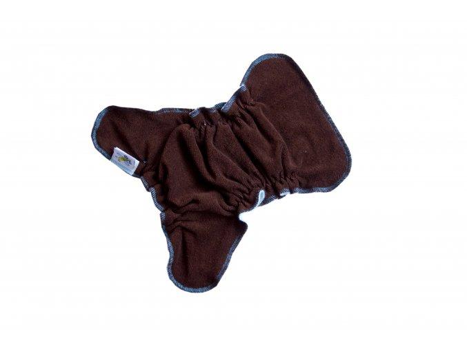 Novorozenecká kalhotková plenka na snappi - Hnědá/tyrkys