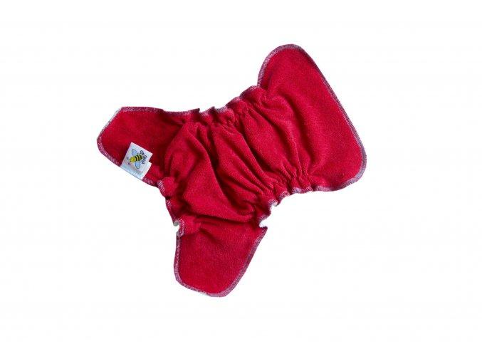 Novorozenecká kalhotková plenka na snappi - Červená/tyrkys